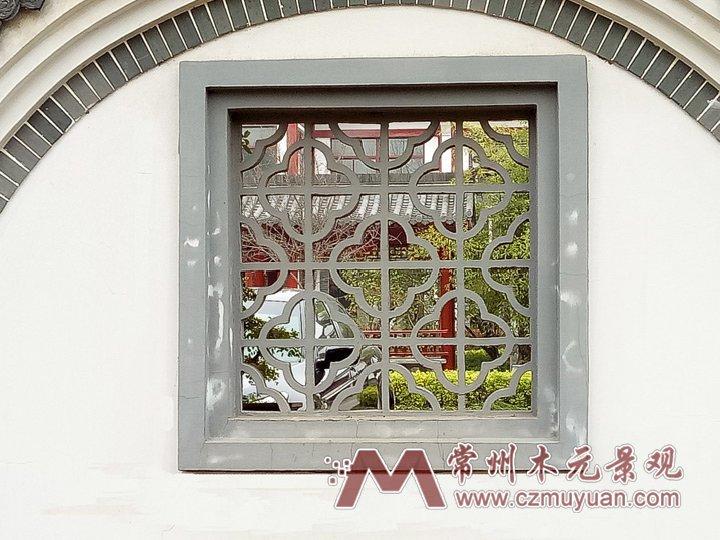 F1005方形梅花纹镂空围墙漏窗