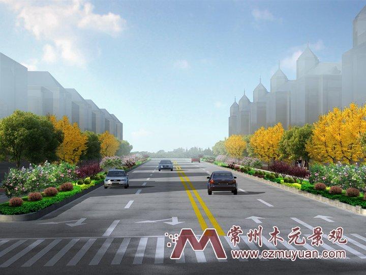 道路绿化类设计